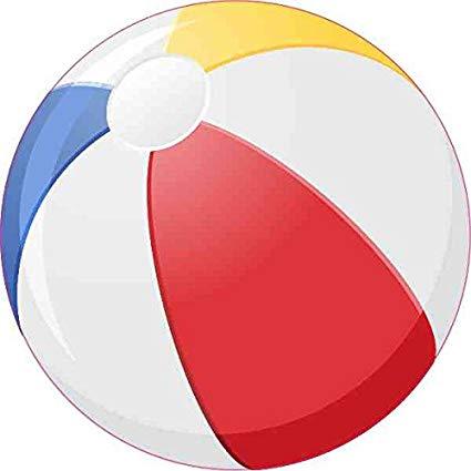 Amazon.com: StickerTalk 4in x 4in Beach Ball Sticker Vinyl.