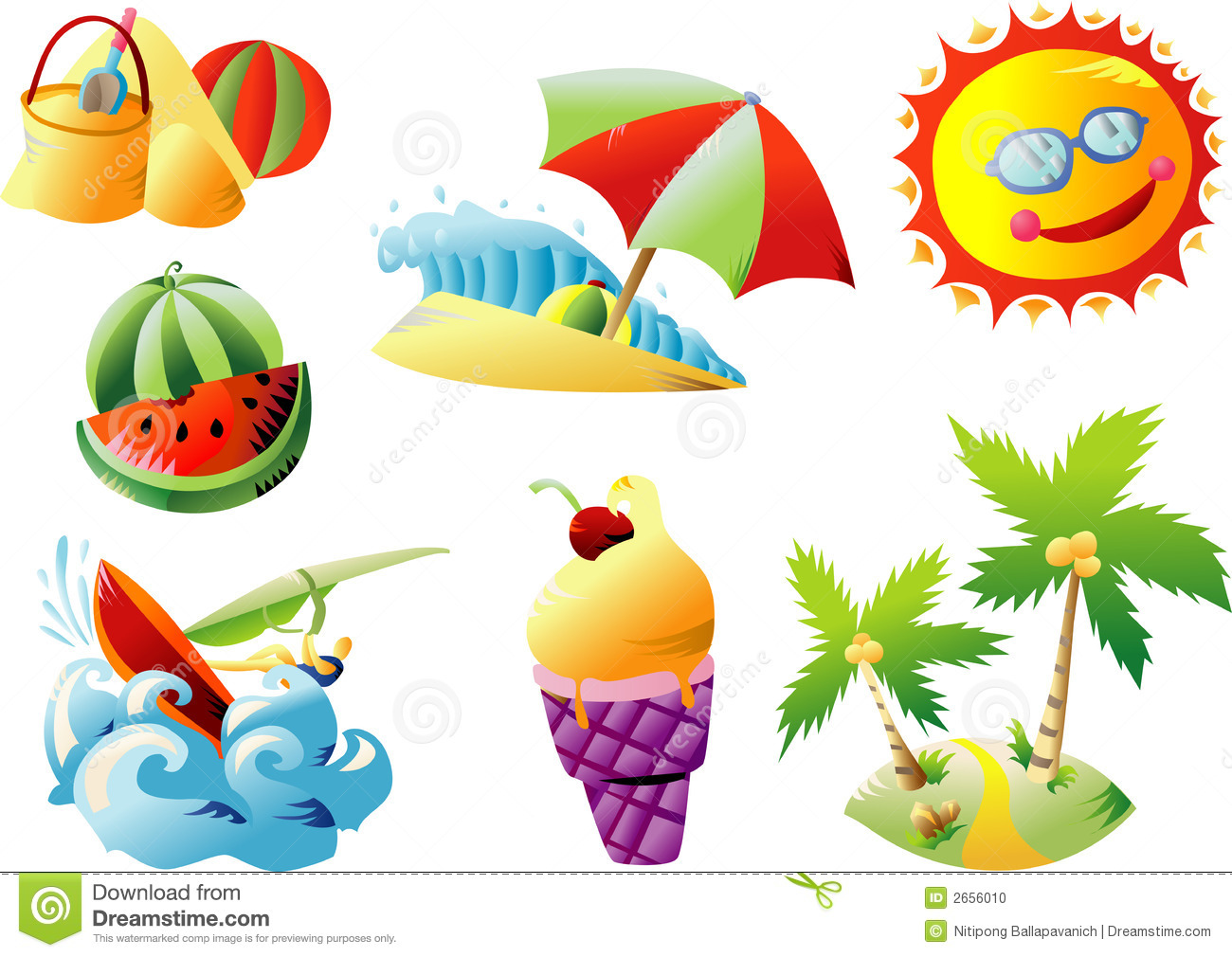 clipart of summer #14