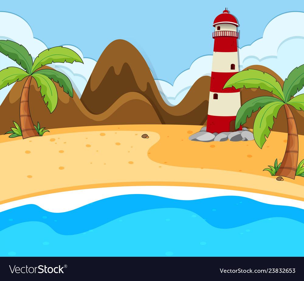 A beach summer scene.