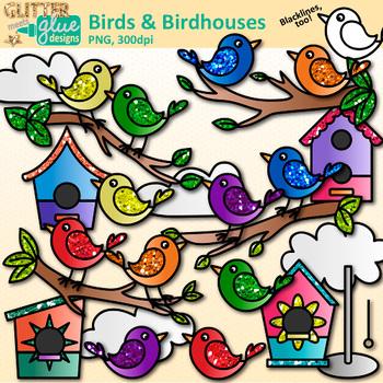Cute Bird Clip Art: Spring & Summer Graphics {Glitter Meets Glue}.