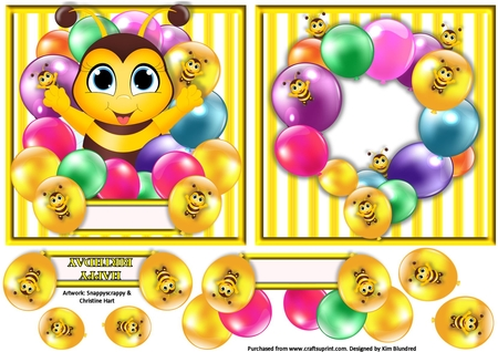 Summer Birthday Clipart Set.