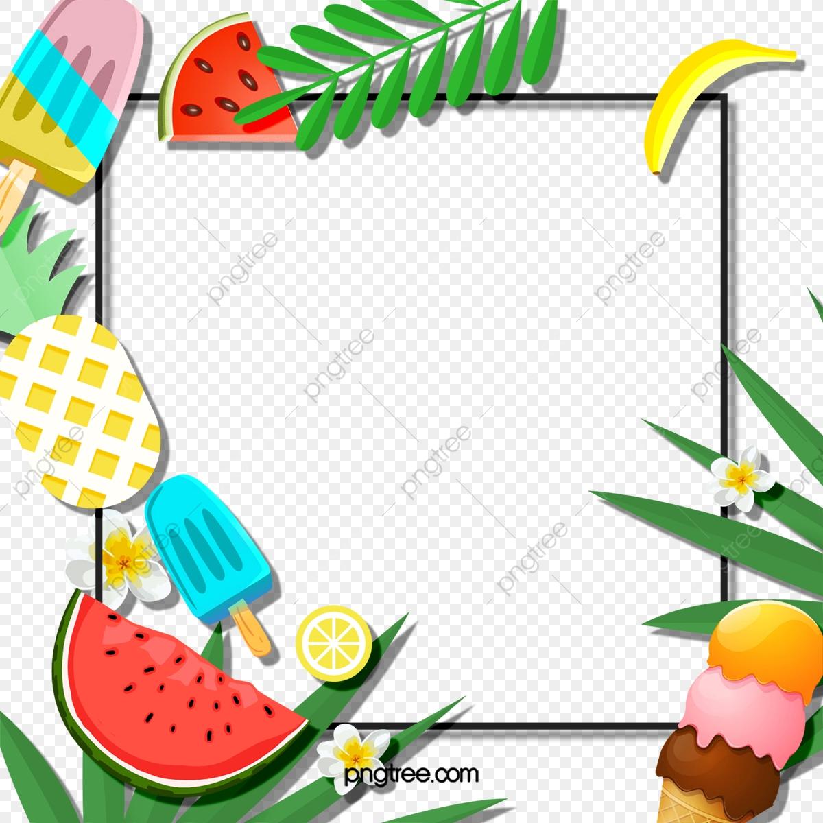 Creative Summer Border, Banner, Creative, Lovely PNG.