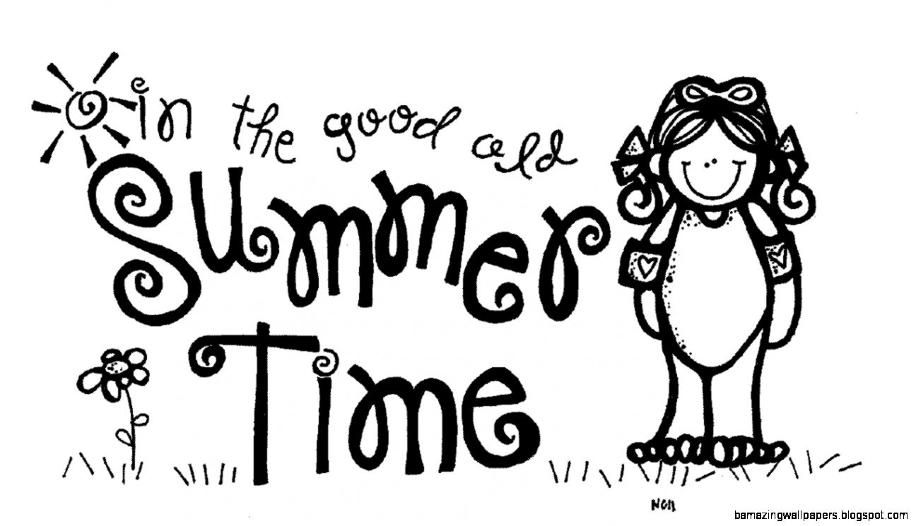 Summer Camp Clipart Black And White.