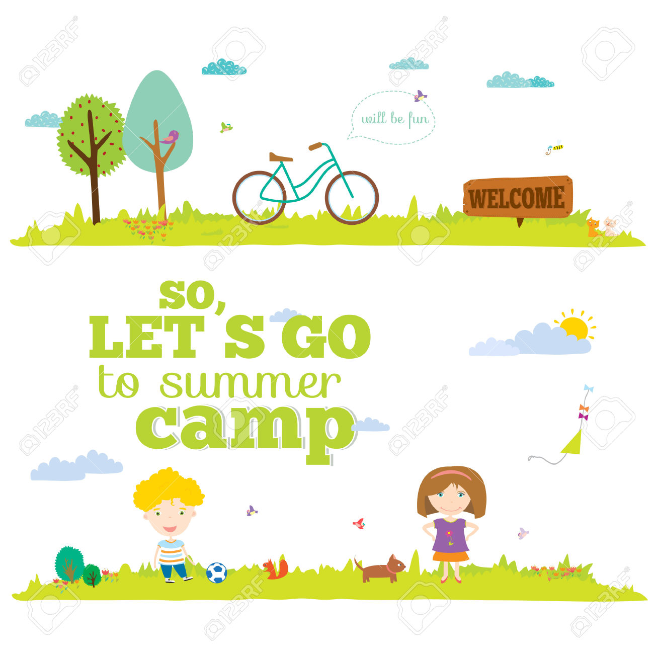 19,147 Summer Camp Stock Illustrations, Cliparts And Royalty Free.