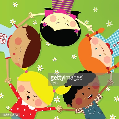 Summer Camp Cute Multicultural Kids Happy Illustration Vector.