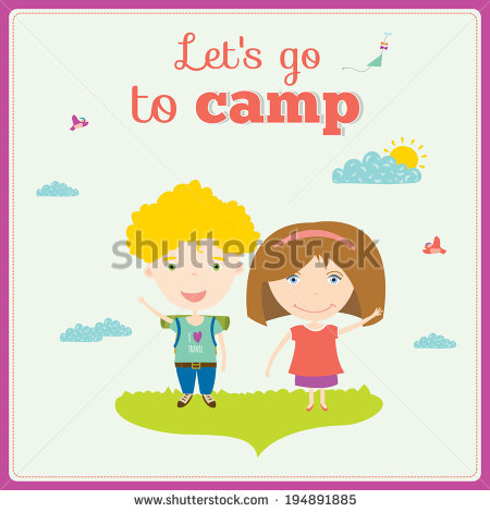 Summer Camp Children Stock Vectors, Images & Vector Art.