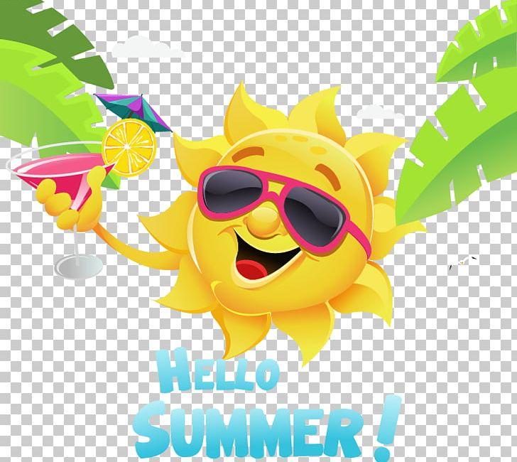Summer Cartoon Illustration PNG, Clipart, Coconut Tree.