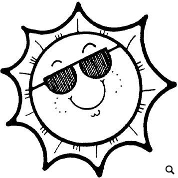 22+ Summer Clipart Black And White.