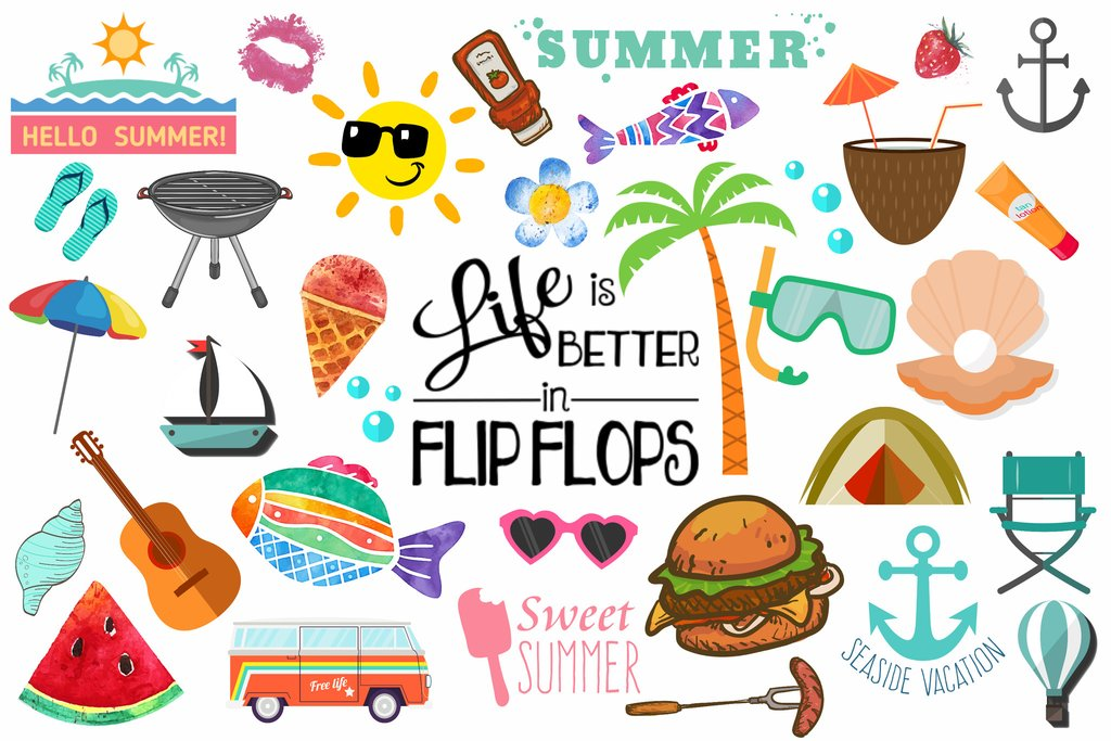 Summer Clipart (100+ pieces).