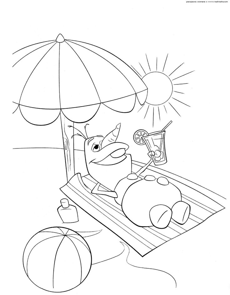 Summer Clipart To Color