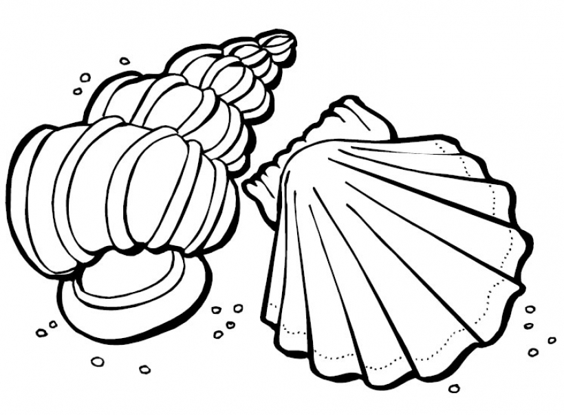 summer clipart to color.