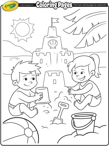 Printable Beach Coloring Pages.