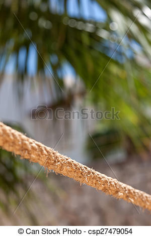 Stock Images of the rope fence of pier in summer vacation time.