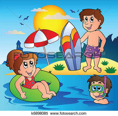 Clipart of Summer theme image 1 k6898085.