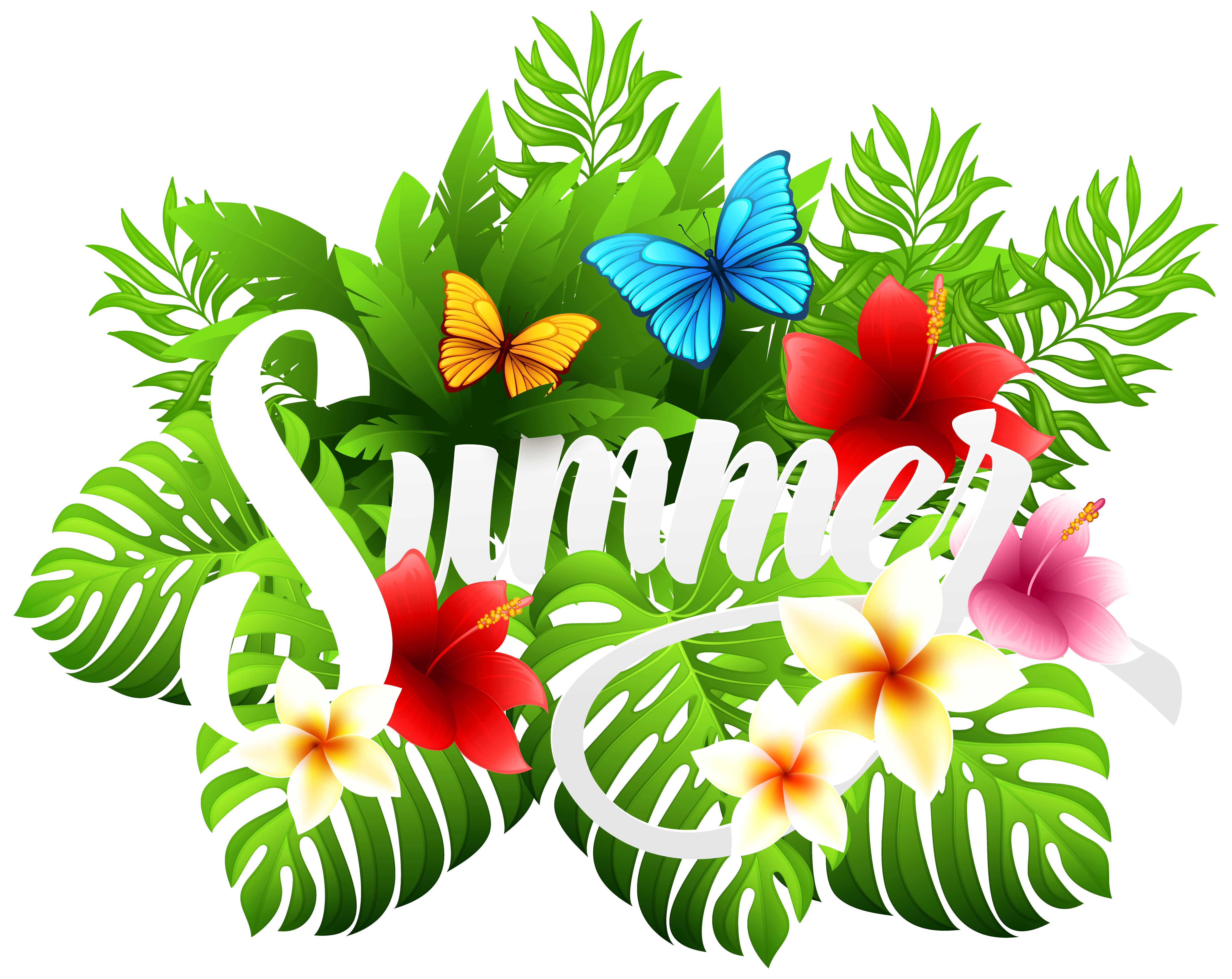 Summer close view clipart - Clipground