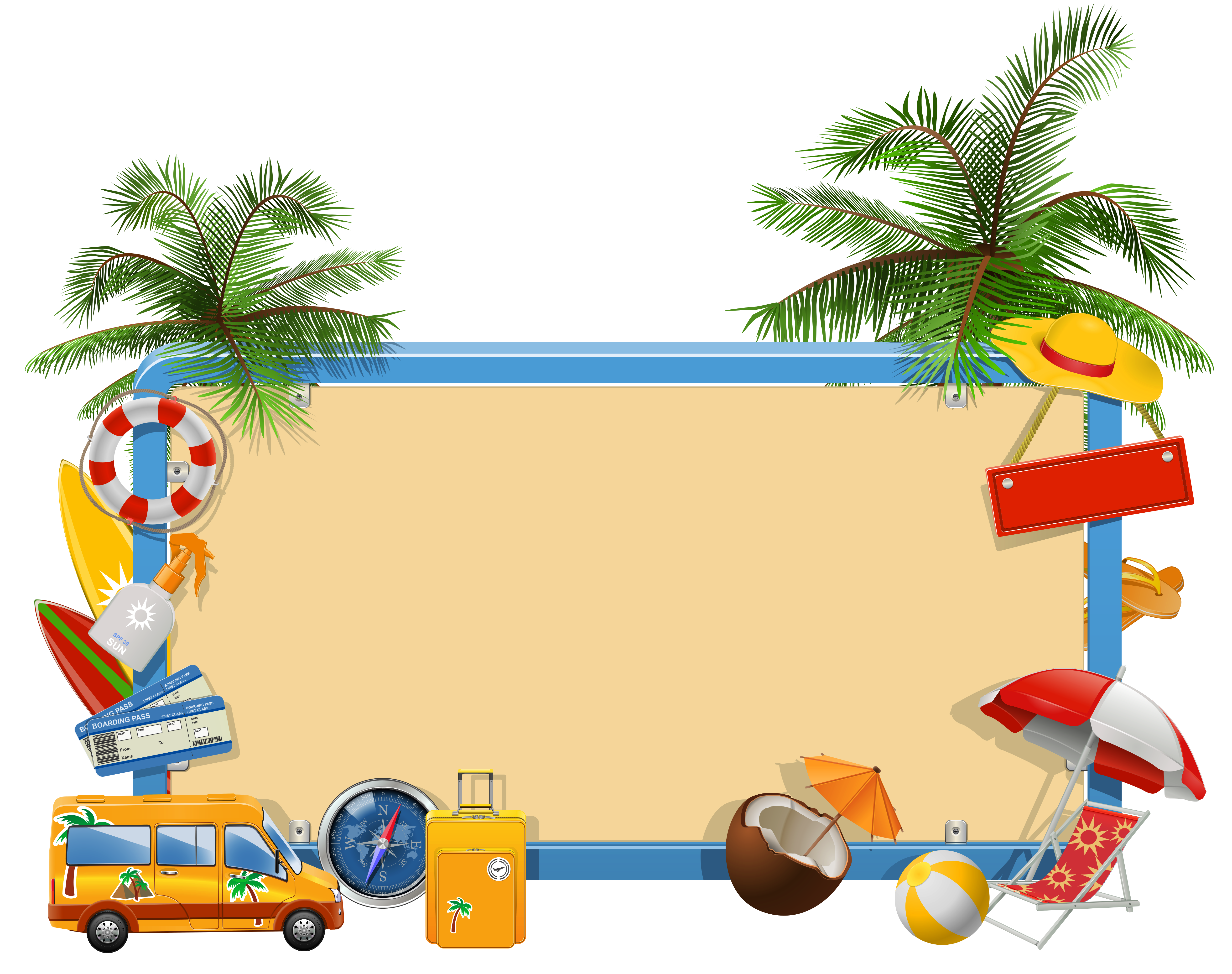 Summer Vacation PNG Clipart.