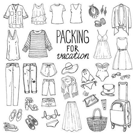 Summer clothes clipart black and white 4 » Clipart Portal.