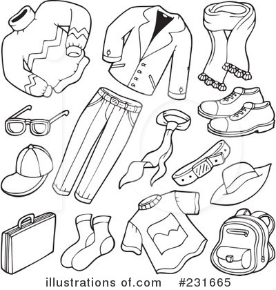 Summer clothes clipart black and white 1 » Clipart Station.