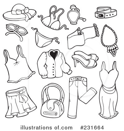 Summer clothes clipart black and white 8 » Clipart Station.