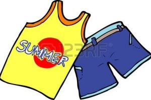 Summer clothes clipart black and white » Clipart Station.