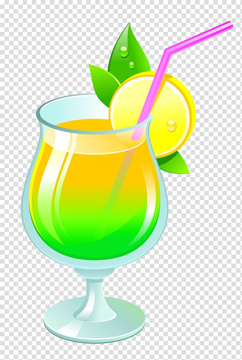 Lemon drink illustration, Cocktail garnish Non.