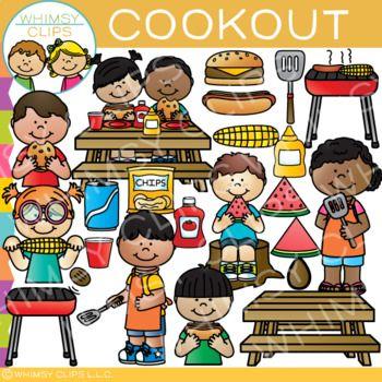 Fun Cookout Clip Art {Summer Clip Art} in 2019.