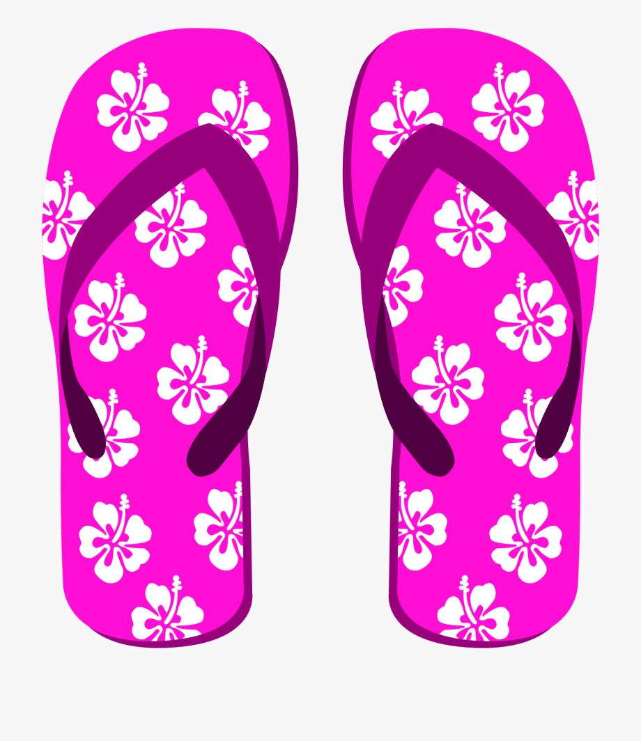 Luau Clipart Slipper Hawaiian.