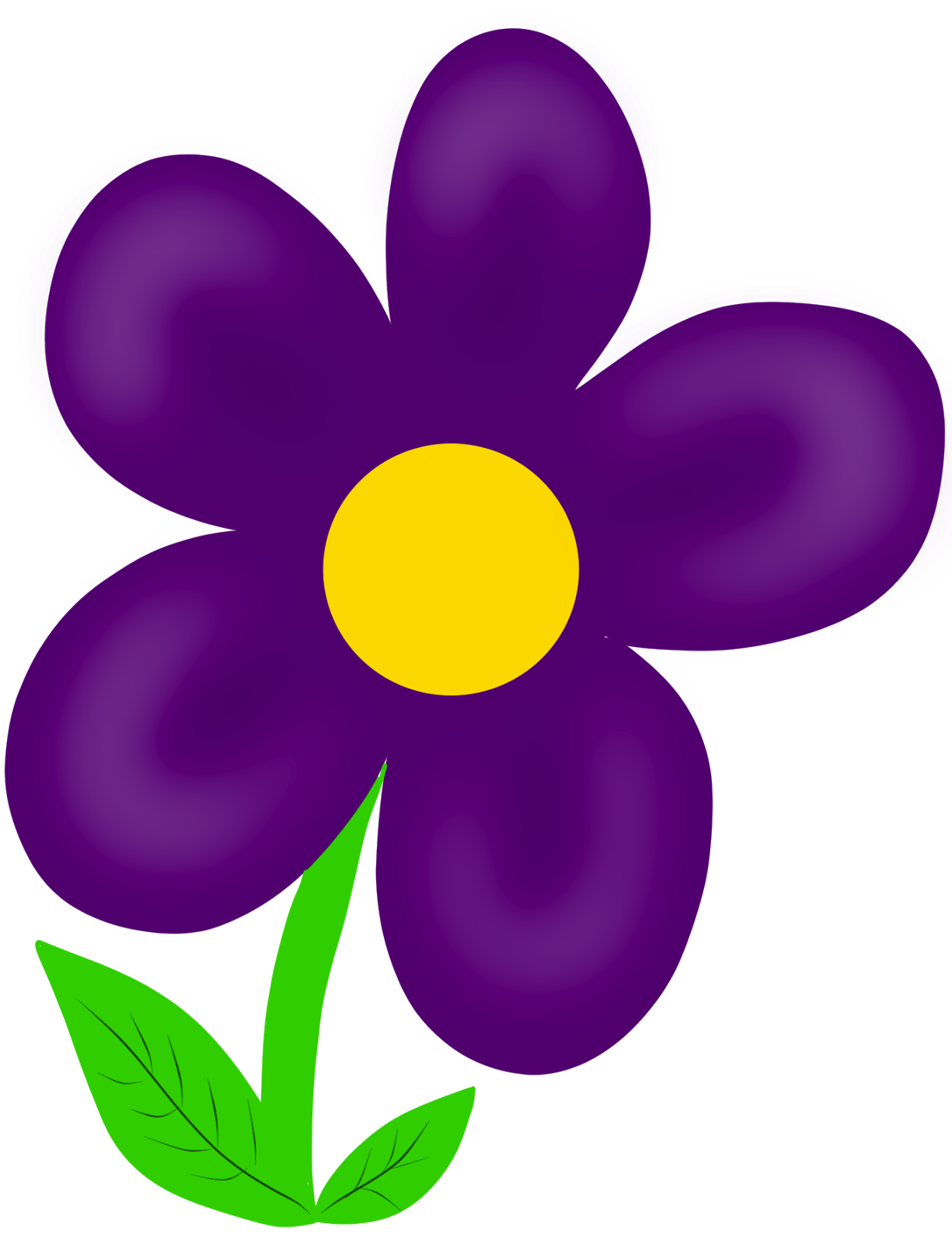 Summer Flowers Clip Art.