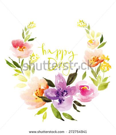 Flower Wreath Stock Photos, Royalty.