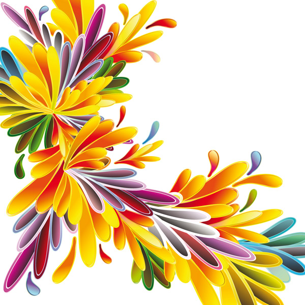 Colorful flowers vector background Free Vector / 4Vector.