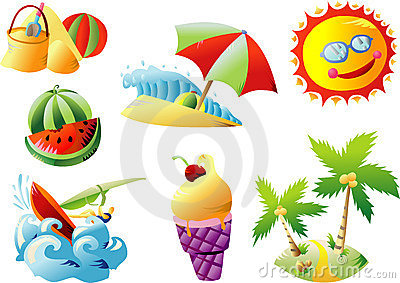 Summer Beach Travel Clip Art Royalty Free Stock Images.