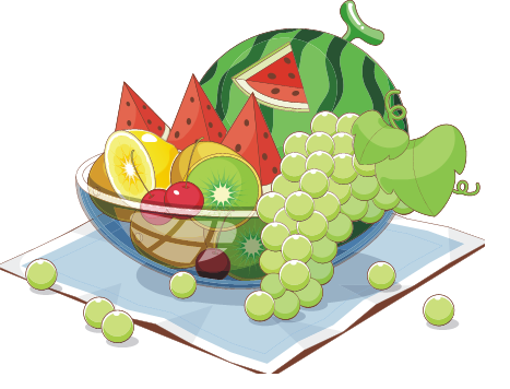 Kids fruit clipart.