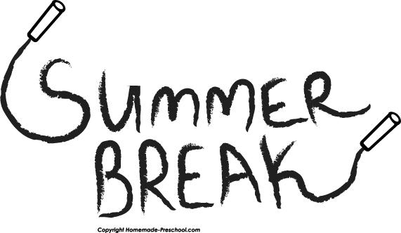 Summer Fun Black And White Clipart.