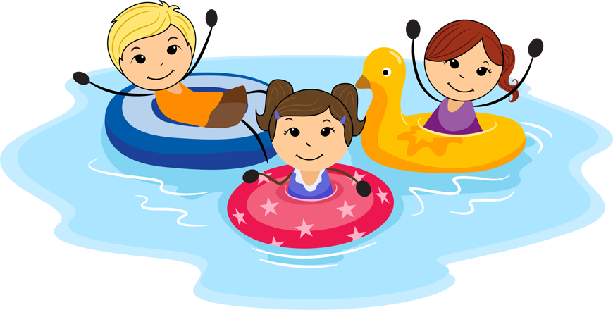 Kids Summer Fun Clip Art.