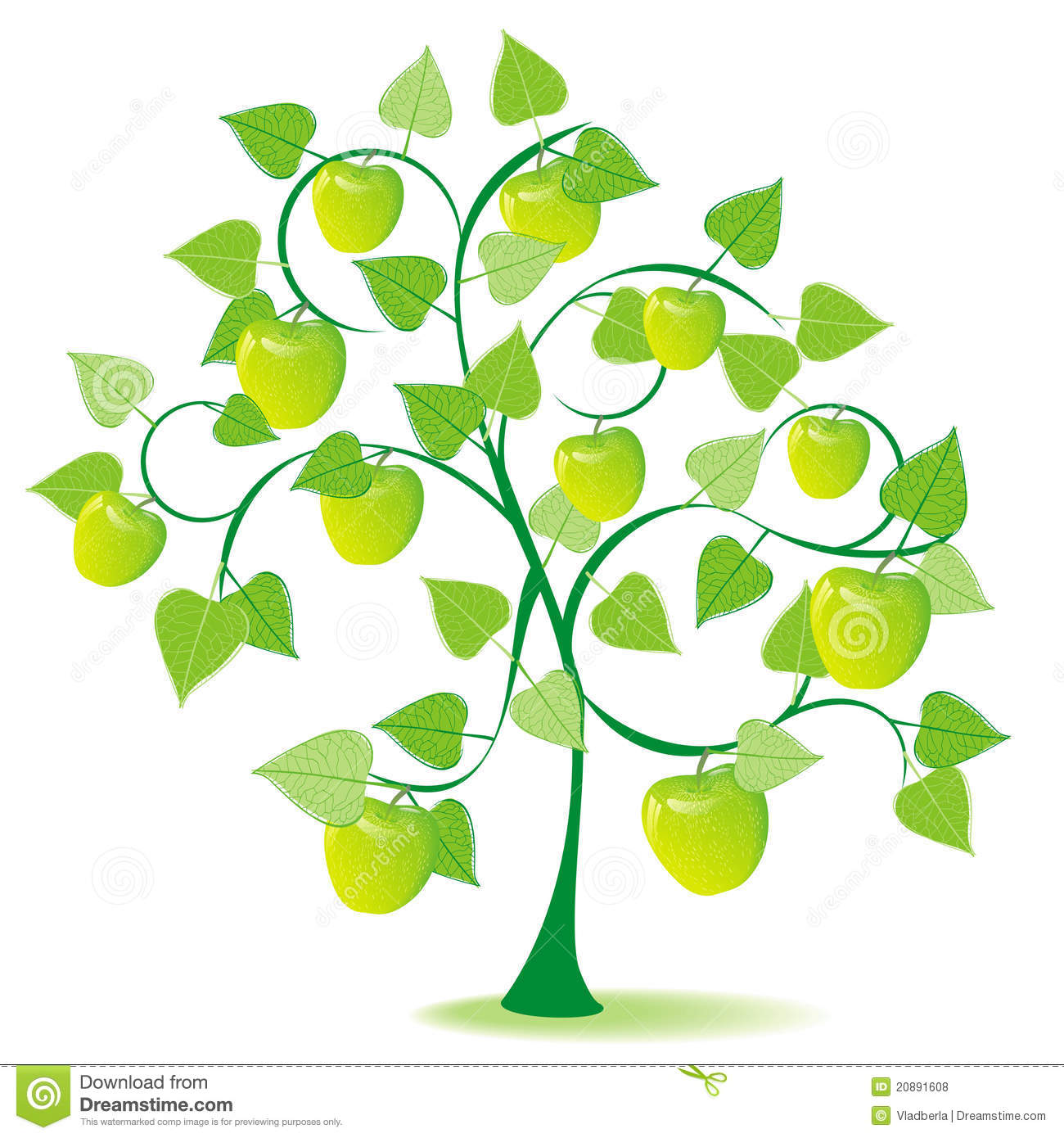 Apple Tree In Green Summer Royalty Free Stock Photos.