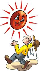 Sun heat clipart.