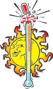 Summer heat clipart.