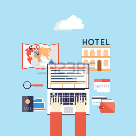 4,509 Booking Hotel Stock Vector Illustration And Royalty Free.