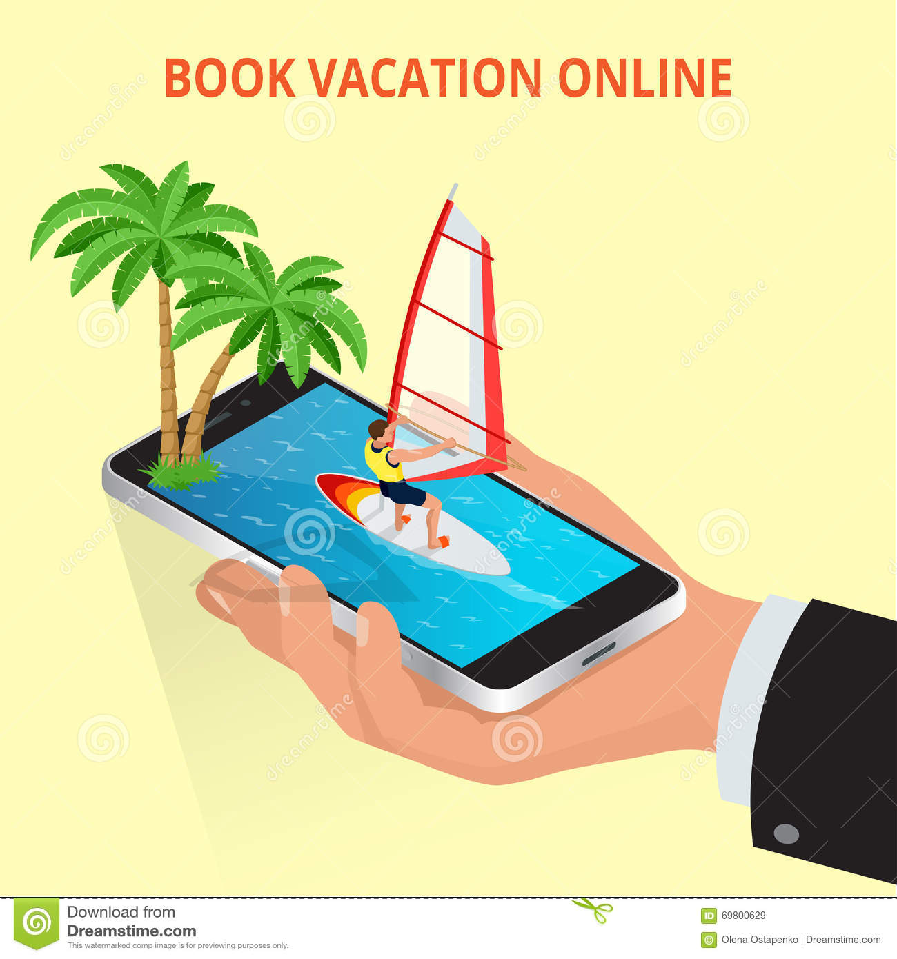 Modern Vector Concept Of Traveling,booking Online, Planning A.