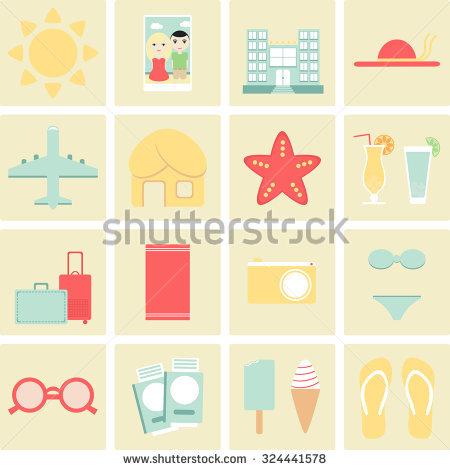 Hotel On City Landscape Summer Vacation Stock Vector 334257494.