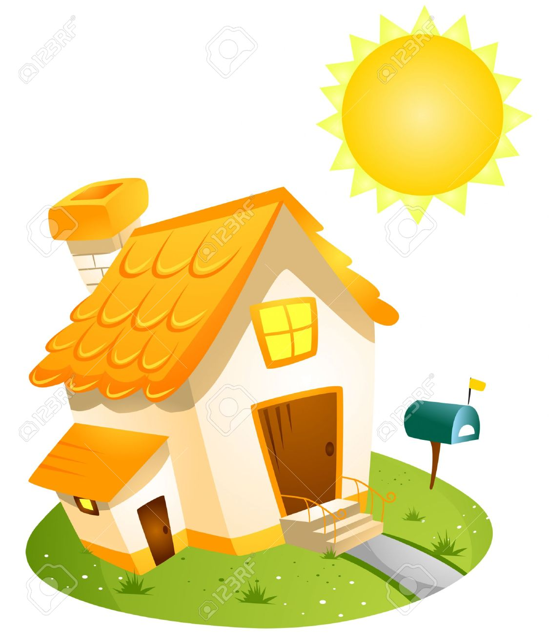 Summer House With Clipping Path Royalty Free Cliparts, Vectors.