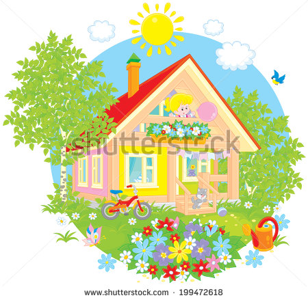 Garden Summer House Stock Vectors, Images & Vector Art.