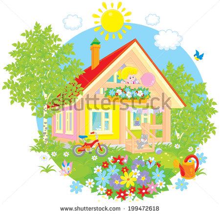 Garden Summer House Stock Vectors, Images & Vector Art.