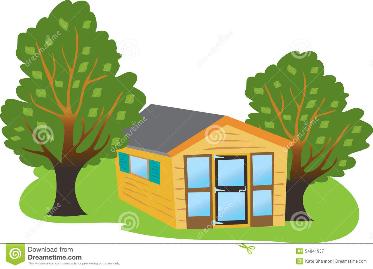 Summer House Stock Vector.