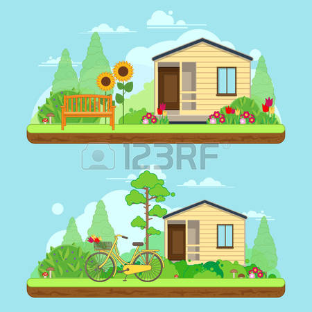 24,628 Summer House Stock Vector Illustration And Royalty Free.