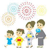 Clip Art of JAPAN SUMMER FESTIVAL vector graphi k8299999.