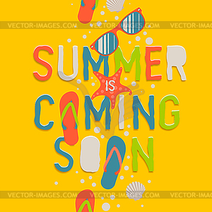 Summer coming soon, creative graphic background.