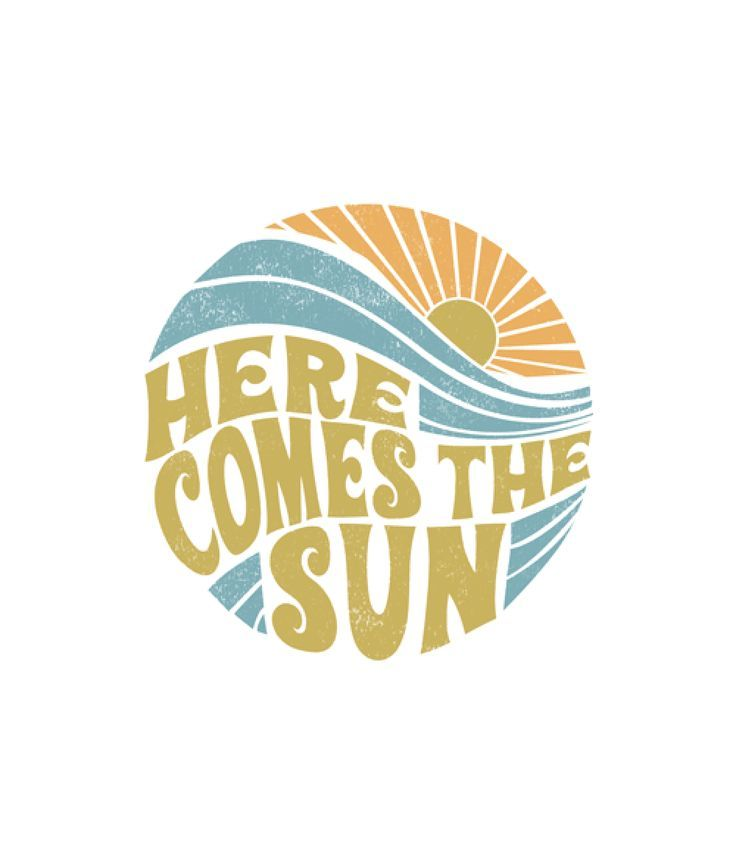 Summer Here Comes The Sun Vintage T Shirt.