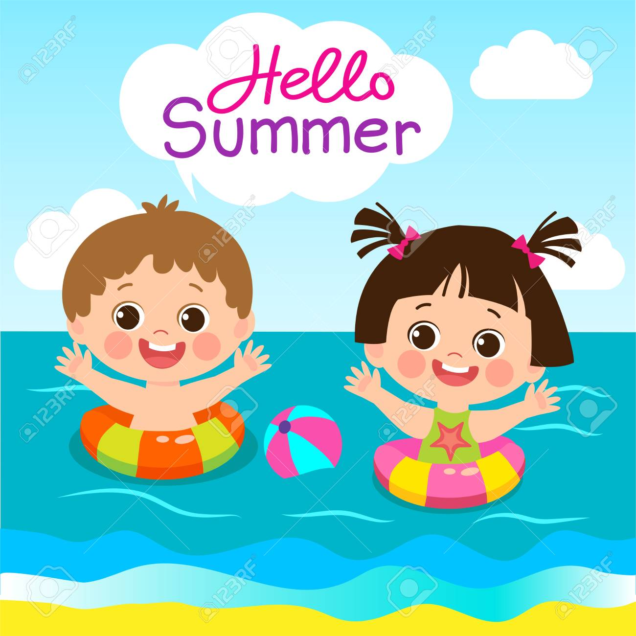 summer kids clip art 10 free Cliparts   Download images on ...