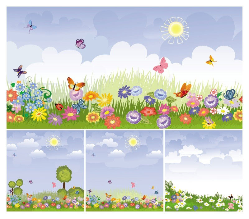 Meadow clipart free.